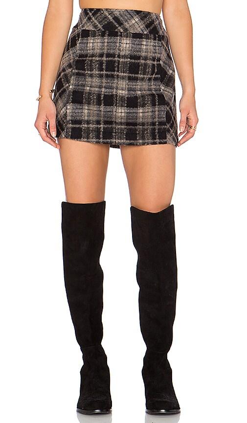 Zip it to Plaid Mini Skirt