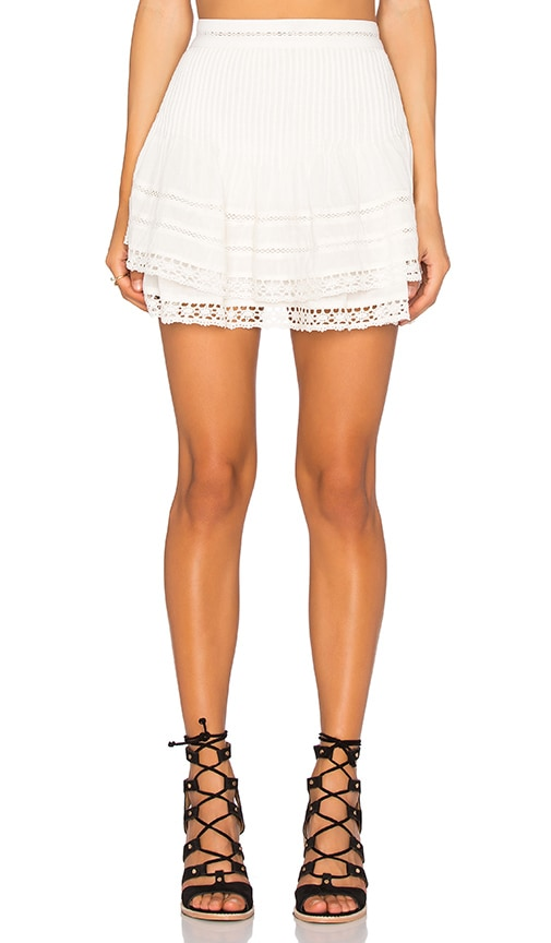 Free People Summer's Night Skirt in Ivory
