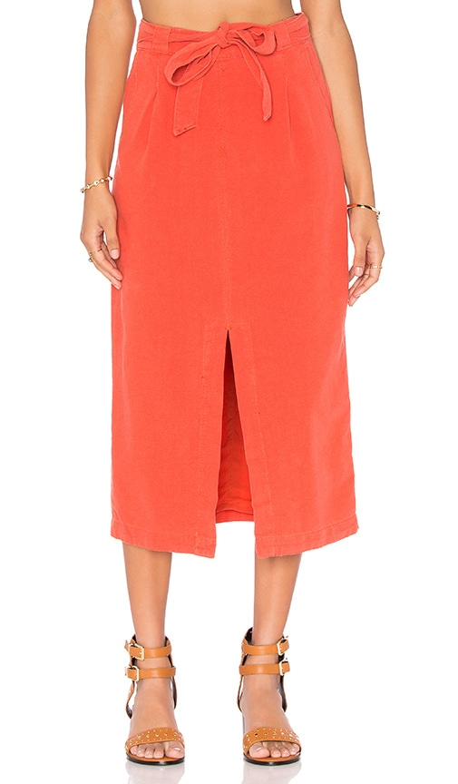 Free People Easy Breezy Skirt in Red