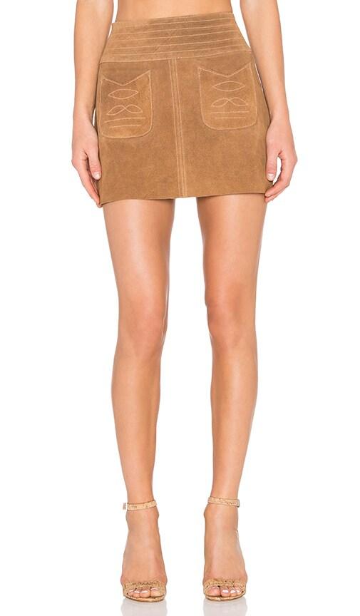Free People Modern Love Skirt in Beige