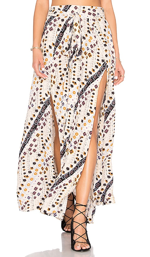 Free People Remember Me Maxi Skirt in Beige