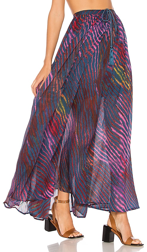 Free People True To You Maxi Skirt in Blue