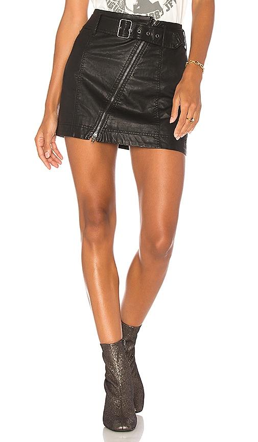 Free People Feelin Fresh Vegan Mini Skirt in Black