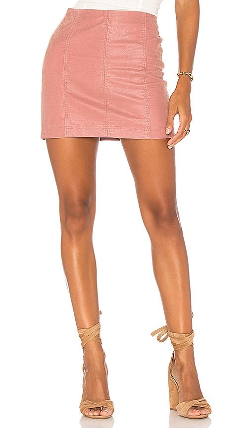 Free People Modern Femme Vegan Suede Mini Skirt in Pink