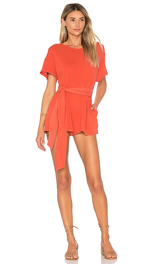Free People Easy Street Wrapped Knit One Piece in Orange