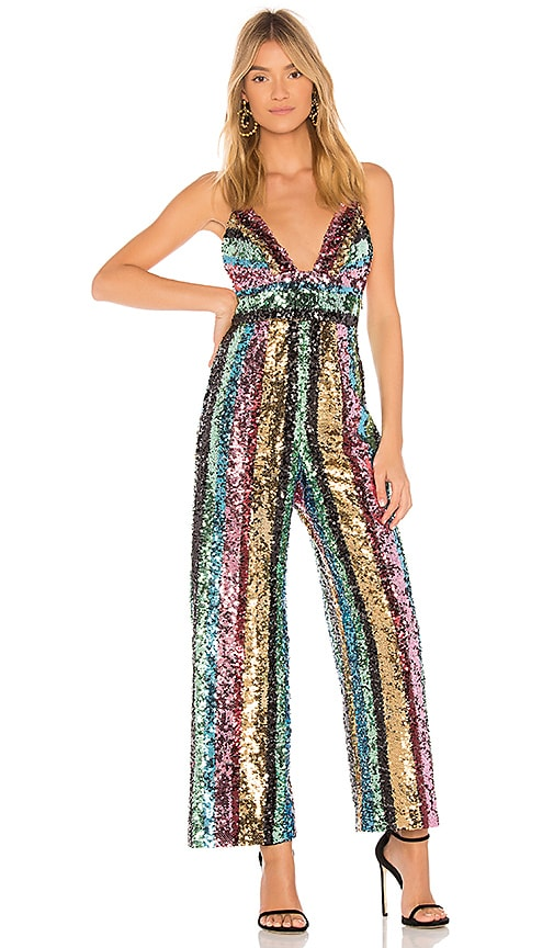 Free People Margarita Sequin Jumpsuit In Multi Revolve