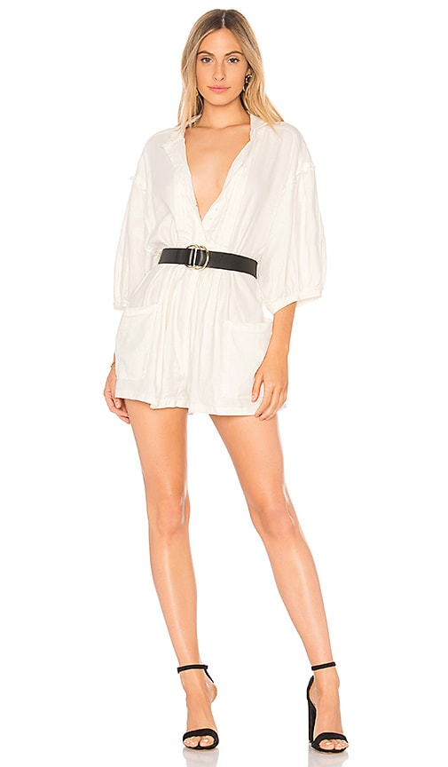 Free People Tomboy Romper in White
