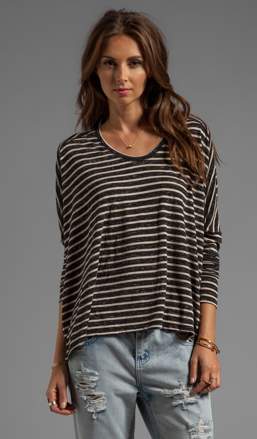 Pandora's Striped Boxy Tee