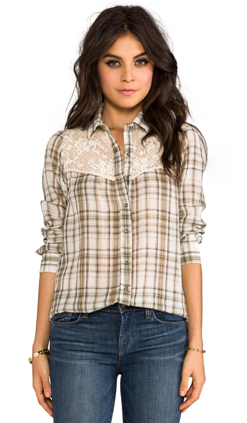 Plaid Saddle Button Down