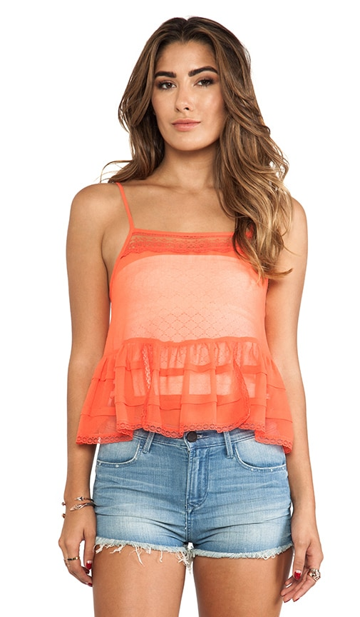 Square Neck Ruffle Tank