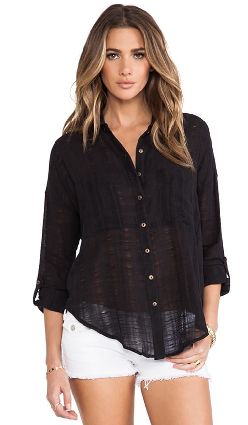 Shibori Siren Buttondown Top
