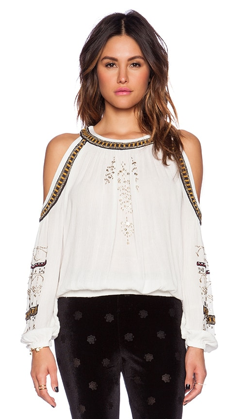 706f32aaaedb75 Free People Give Him The Cold Shoulder Top in Ivory