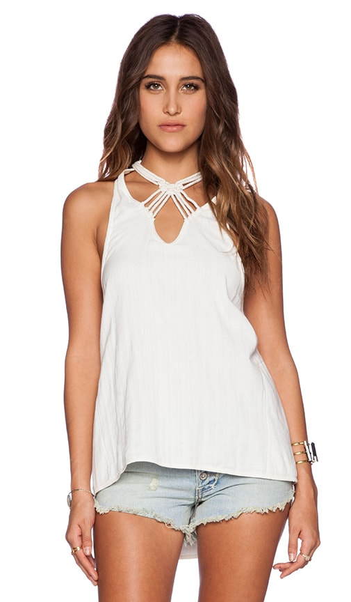 Free People One and Only Tank in Ivory