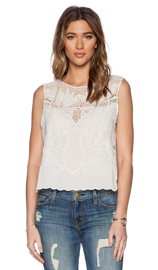 Free People Island in the Sun Crop Top in White