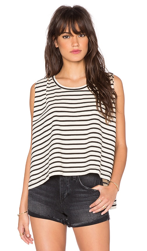 Free People Madness Stripe Muscle Top in 1540