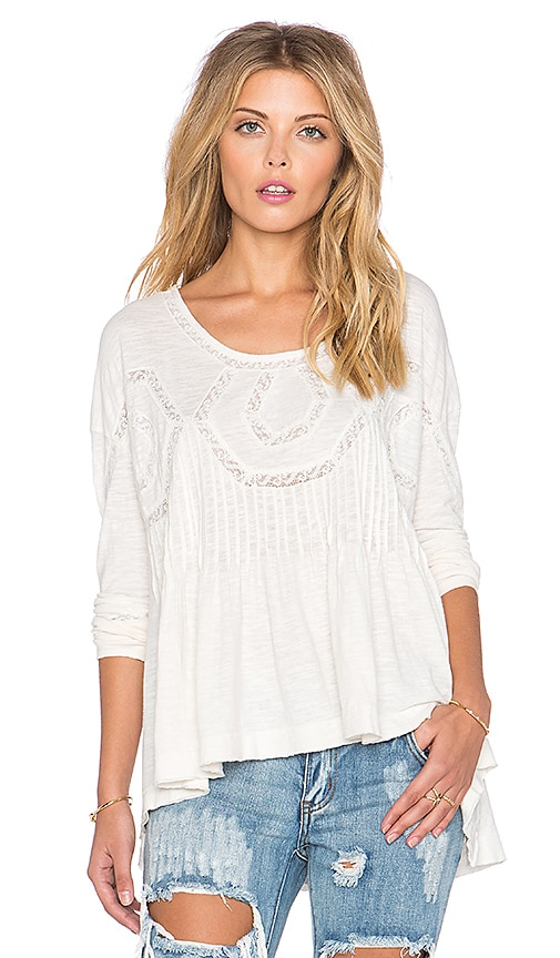 Free People New Hope Babydoll Top in Ivory