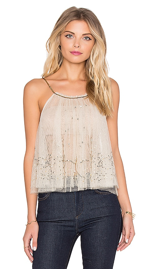 Free People Sprinkled Tank in Ivory