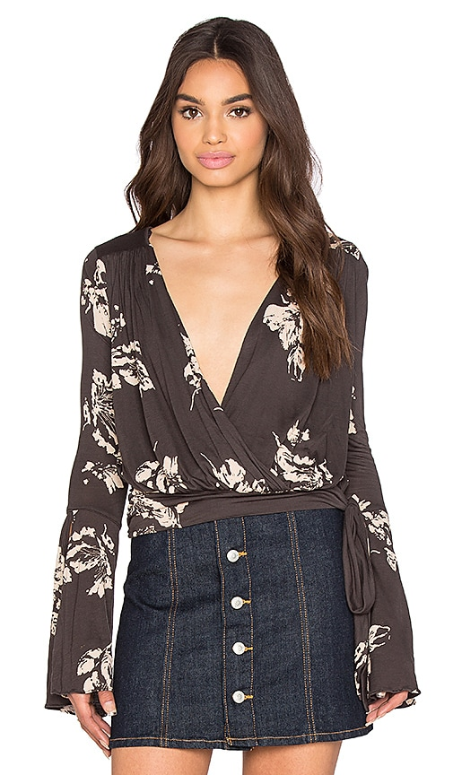 Free People Fiona Top in Dark Gray