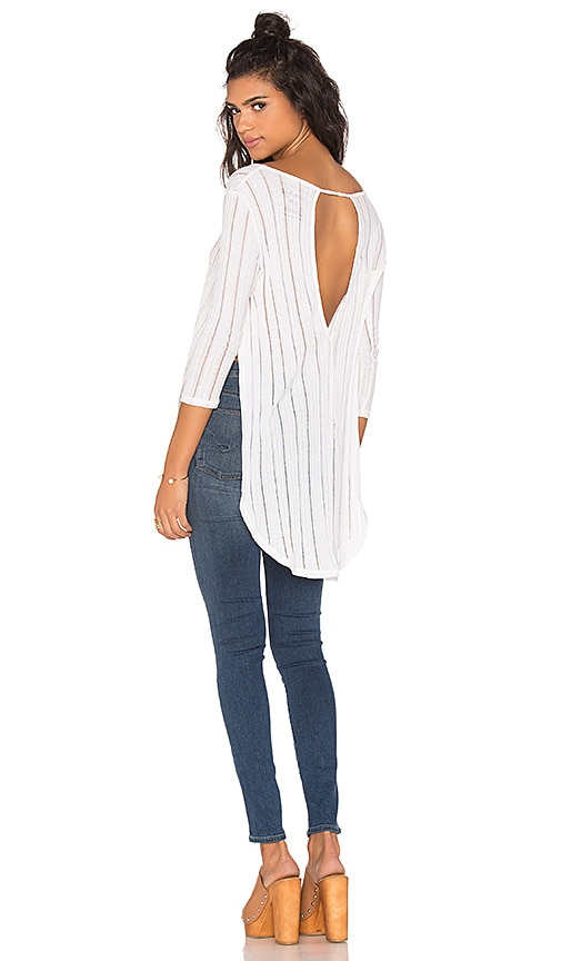 Free People Astoria Hacci Top in Ivory