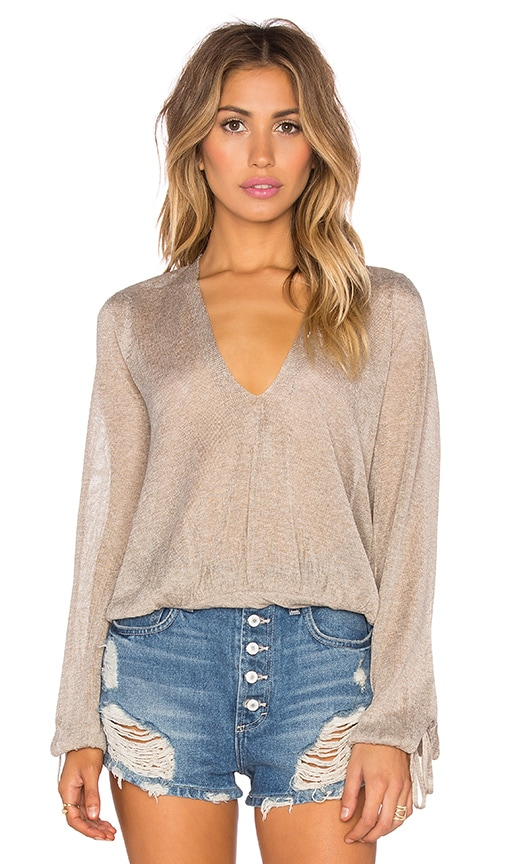 Free People Rock Steady Top in Taupe
