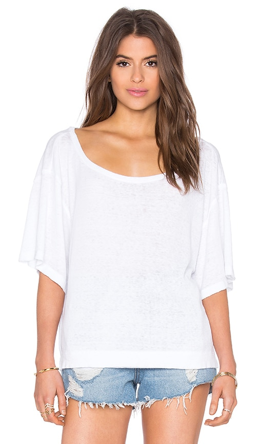 Free People Penny Tee in White