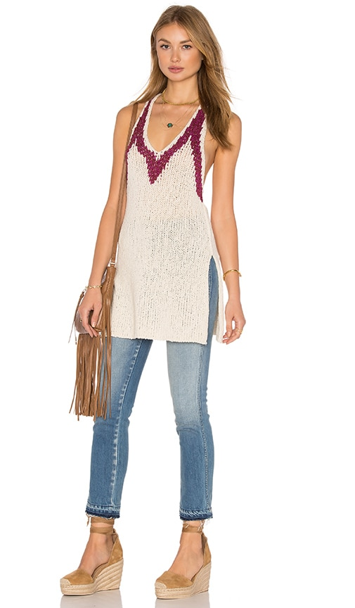 Free People Hold on Tunic in Ivory