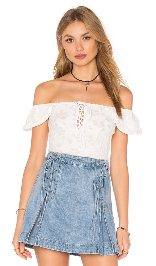Free People Popsicle Off the Shoulder Top in White