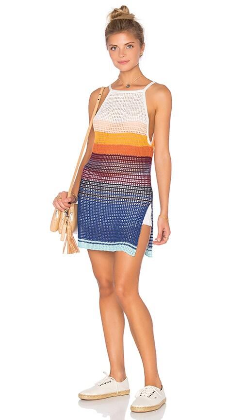 Free People Gossamer Stripe Top in Ivory Combo
