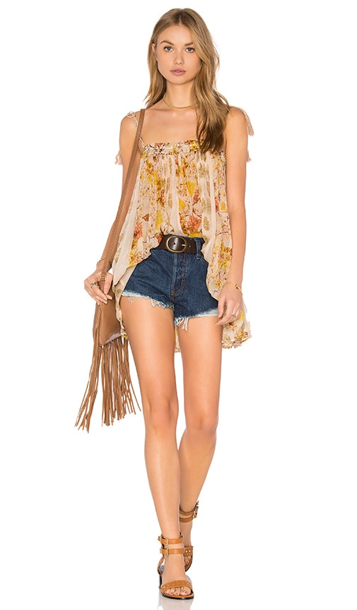 Free People Secret Love Top in Yellow