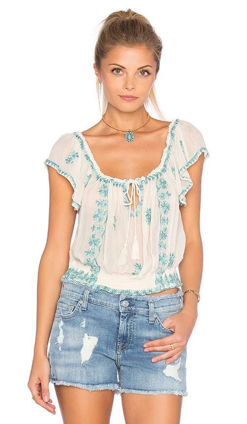 Free People Paisley Park Top in White
