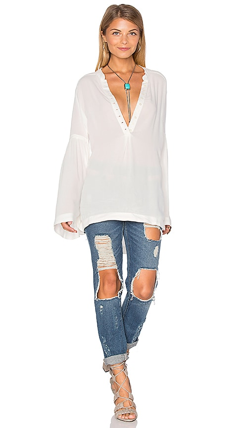 Free People Easy Girl Top in Ivory