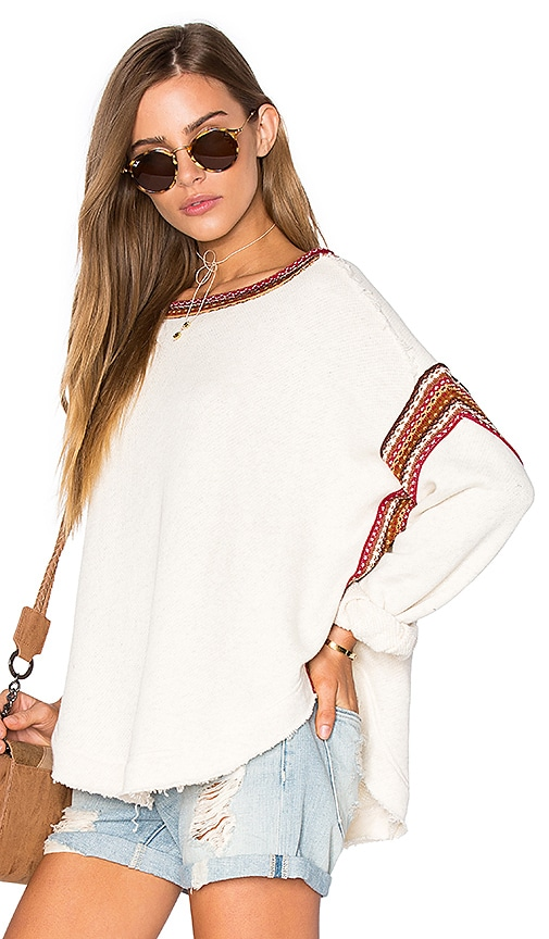Free People Trudy Pullover Top in Cream