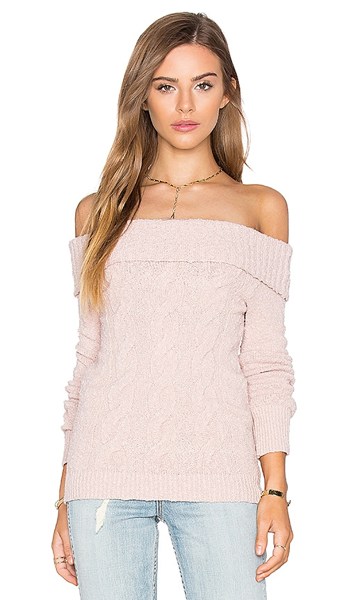 Free People Cable Foldover Top in Blush