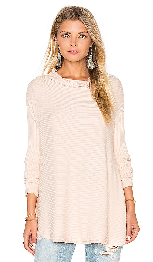 Free People Lover Rib Thermal Top in Blush