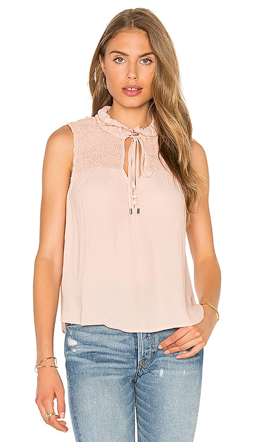 Free People Ruffle Me Up Top in Blush