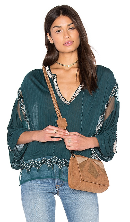 Free People Eden Top in Teal