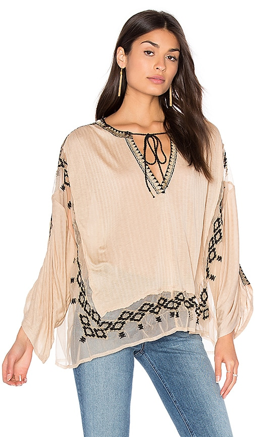 Free People Eden Top in Beige