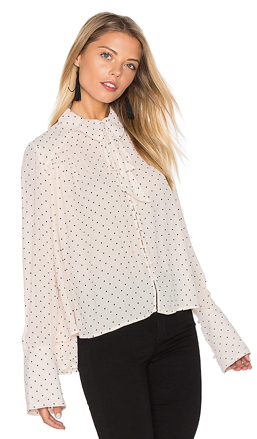 Free People Kennedy Blouse in Blush