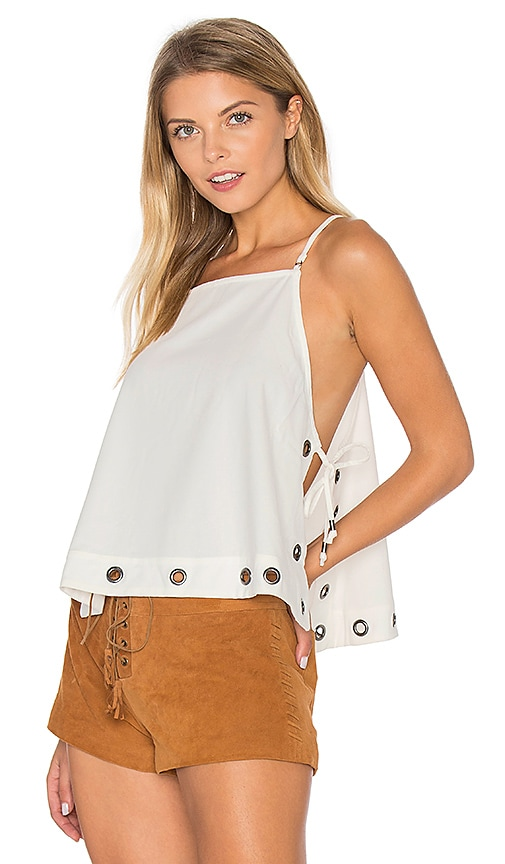 Free People City Fever Top in White