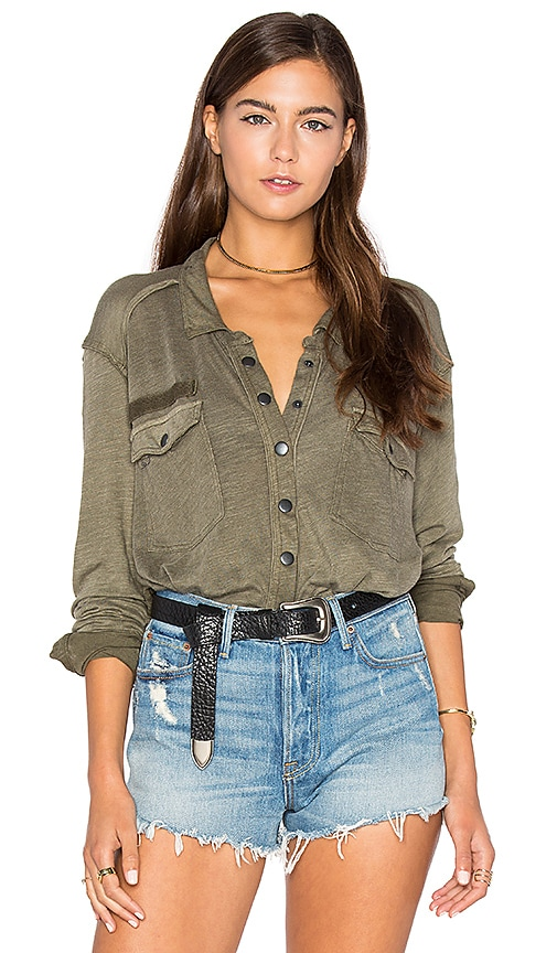 Free People Monday Morning Top in Olive