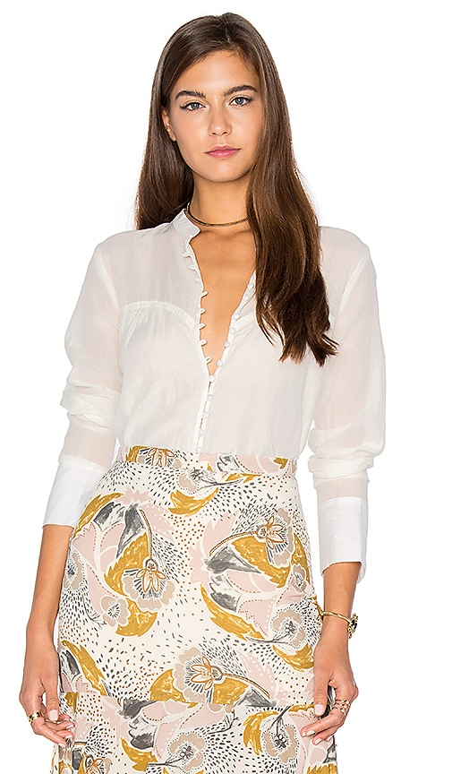 Free People Through and Through Top in White