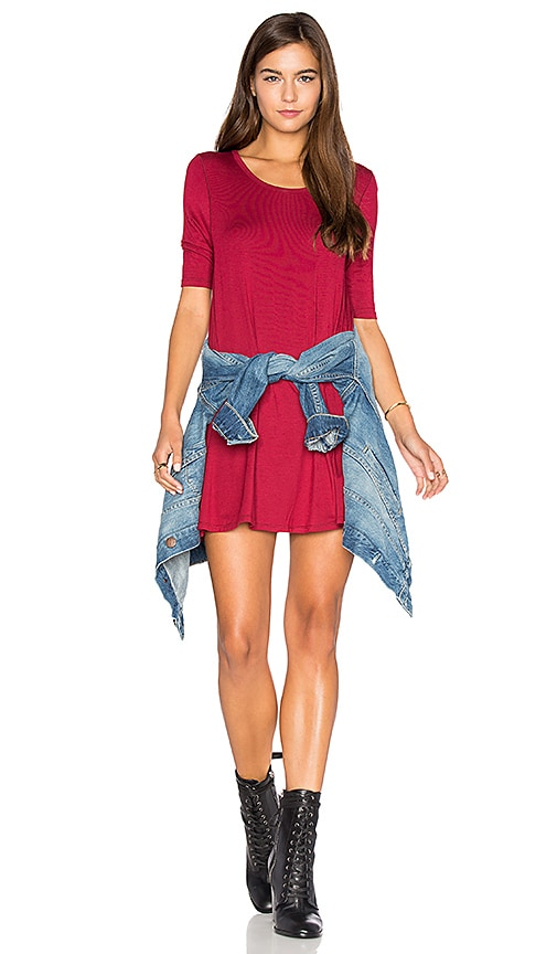 Free People Jacqueline Tunic in Red