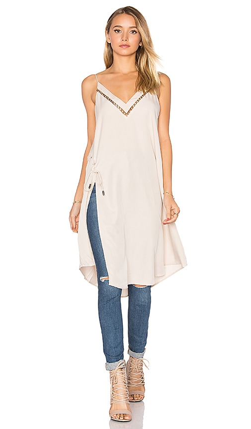 Free People Sensual Military All I Want Maxi Tank in Beige