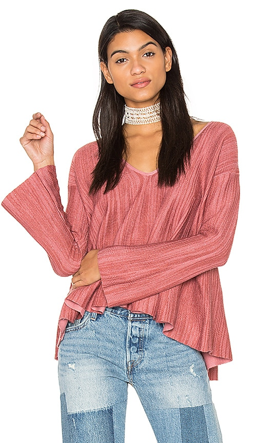 Free People Sundae Pullover Top in Pink