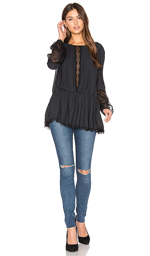 Free People Soul Serene Top in Black