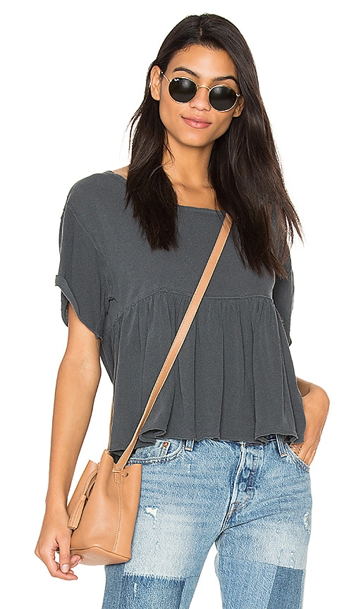 Free People Odyssey Tee in Charcoal