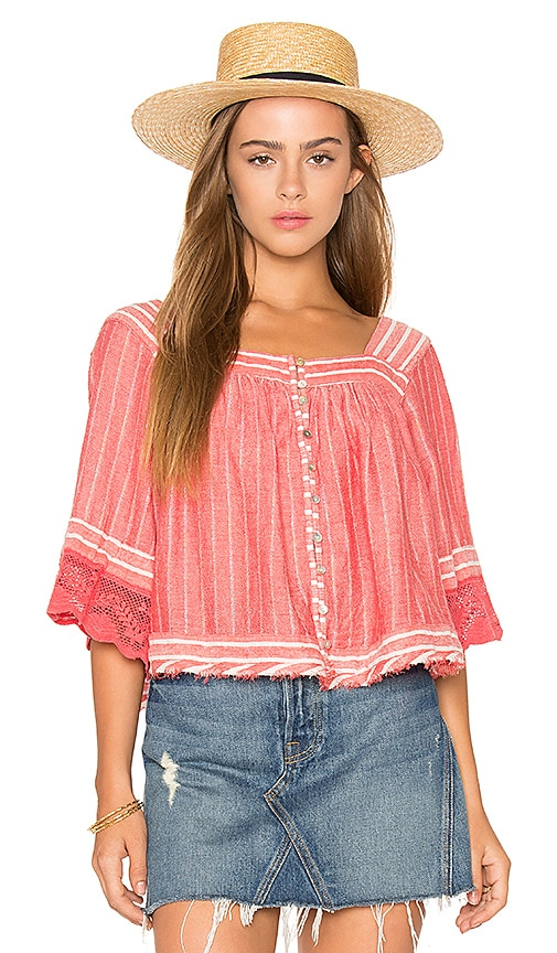 Free People See Saw Top in Red