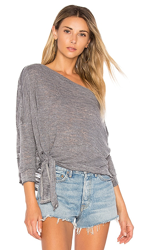 Free People Love Lane Tee in Charcoal