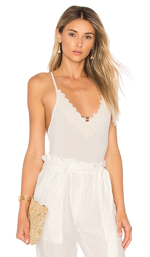 Free People Gia Bodysuit in Ivory
