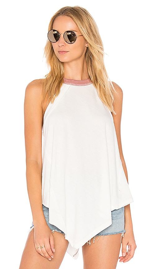 Free People Twin Peaks Tank in White